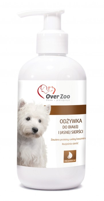 Over-Zoo, Odżywka dla białej i jasnej sierści, 250ml