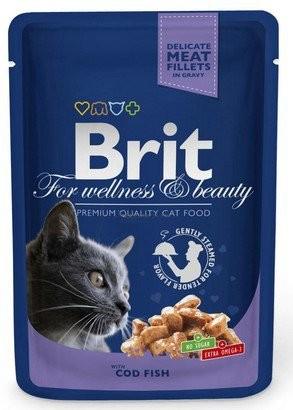 Brit, Cat Premium, z dorszem, 100g
