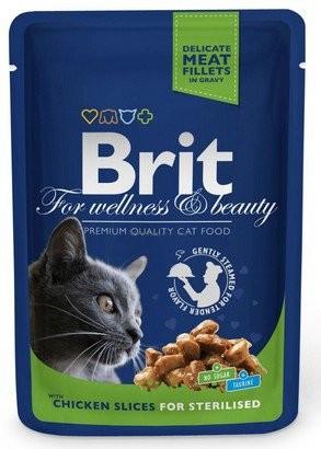 Brit, Cat Premium Sterilised, z kurczakiem, 100g
