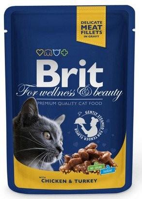 Brit, Cat Premium, z kurczakiem i indykiem, 100g