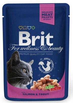 Brit, Cat Premium, z łososiem i pstrągiem, 100g