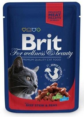 Brit, Cat Premium, z wołowiną i groszkiem, 100g