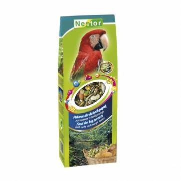 Nestor, Smaki Świata, Pokarm dla dużych papug z orzechami i fasolą mungo, 700ml