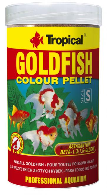 Tropical, Goldfish Colour Pellet, wybarwiający pokarm w formie granulatu dla złotych rybek