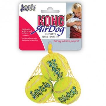 KONG AirDog Squeaker, Piłka tenisowa XS, 3 sztuki