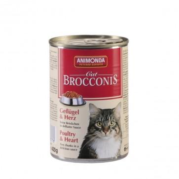 Animonda, Brocconis Cat, z drobiem i sercami wołowymi, 400g