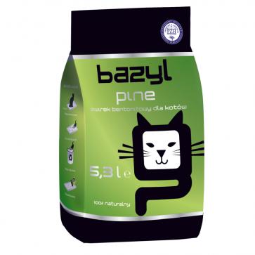 Bazyl, Pine, zbrylający się żwirek dla kota o zapachu lesnym, 5,3L