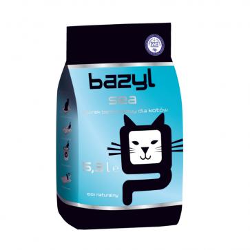 Bazyl, Sea, zbrylający się żwirek dla kota o zapachu morskim, 5,3L
