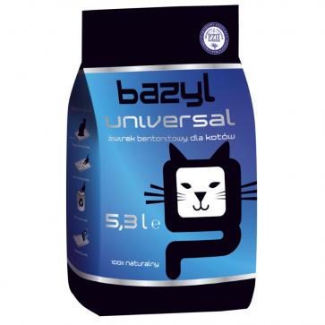 Bazyl, Universal, zbrylający się żwirek dla kota bez zapachu, 5,3L