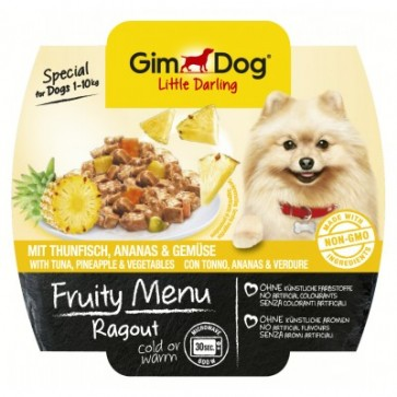 Gimdog, Fruity Menu Ragout, Tuna & Pineapple, 100g