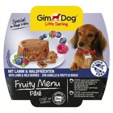 Gimdog, Fruity Menu Pate, Lamb & Wild Berries, 100g