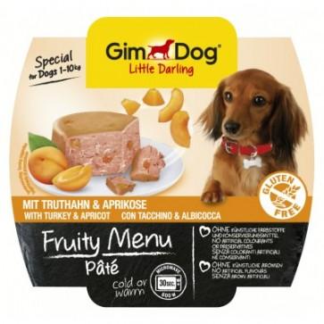 Gimdog, Fruity Menu Pate, Turkey & Apricot, 100g