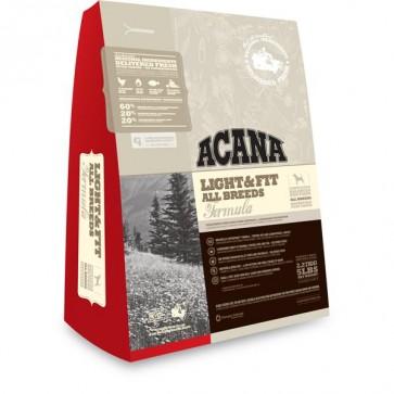 Acana, Light Fit, karma dla psów z nadwagą, różne opakowania
