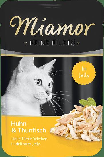 Miamor, Feine Fillets, Kurczak z tuńczykiem, 100g
