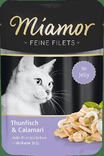 Miamor, Feine Fillets, Tuńczyk i kalmary, 100g