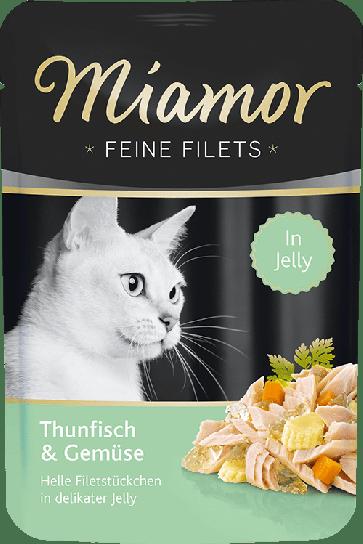 Miamor, Feine Fillets, Tuńczyk i warzywa, 100g