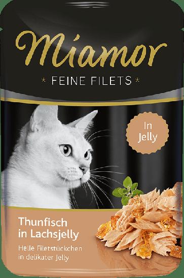Miamor, Feine Fillets, Tuńczyk w galaretce łososiowej, 100g