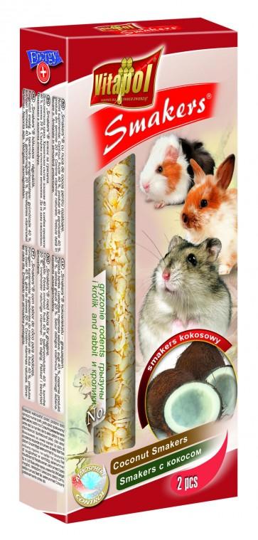 Vitapol, Smakers, Kolba dla gryzoni i królików, kokosowa, 2 sztuki