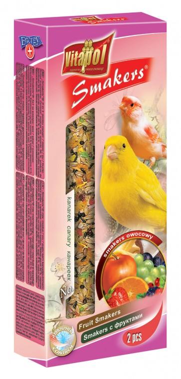 Vitapol, Smakers, Kolba dla kanarka, owocowa, 2 sztuki