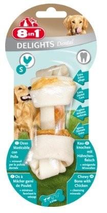 8IN1 Dental Delights Bone S, Kość z kurczakiem odświeżająca oddech