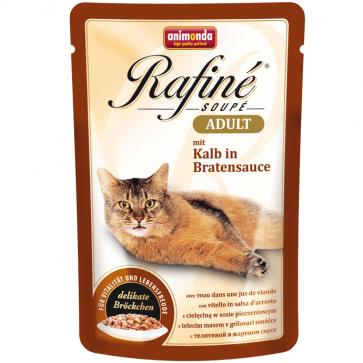 Animonda, Rafiné Soupé, z cielęciną w sosie pieczeniowym, dla dorosłych kotów, saszetka 100g
