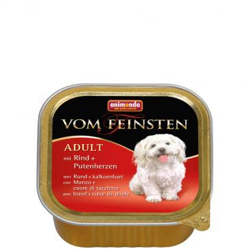 Animonda, Vom Feinsten Adult, z wołowiną i sercami indyka, 150g