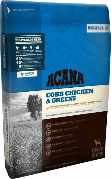 Acana, Cobb Chicken & Greens, karma dla dorosłych psów wszystkich ras