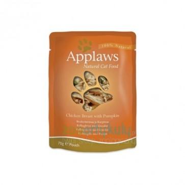 Applaws, Kurczak i dynia, pokarm dla dorosłego kota, saszetka 70g