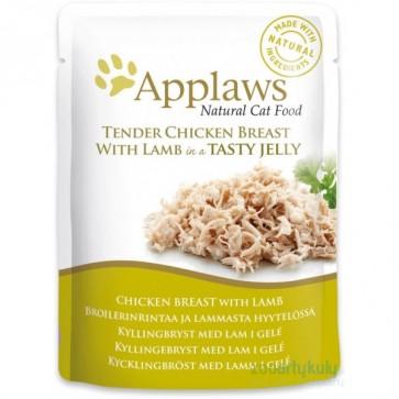 Applaws, Kurczak i jagnięcina, pokarm dla dorosłego kota, saszetka 70g