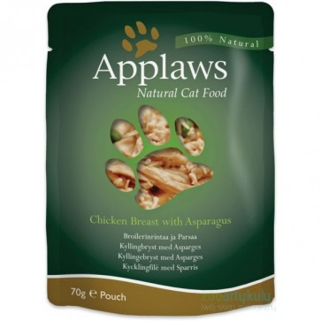 Applaws, Kurczak i szaparagi, pokarm dla dorosłego kota, saszetka 70g