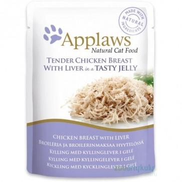 Applaws, Kurczak i wątróbka kurczaka, pokarm dla dorosłego kota, saszetka 70g