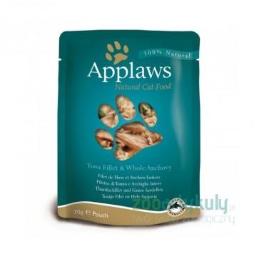 Applaws, Tuńczyk, anchois i wodorosty, pokarm dla dorosłego kota, saszetka 70g