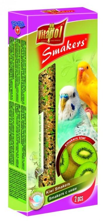 Vitapol, Smakers, Kolba dla papużki falistej, kiwi, 2 sztuki