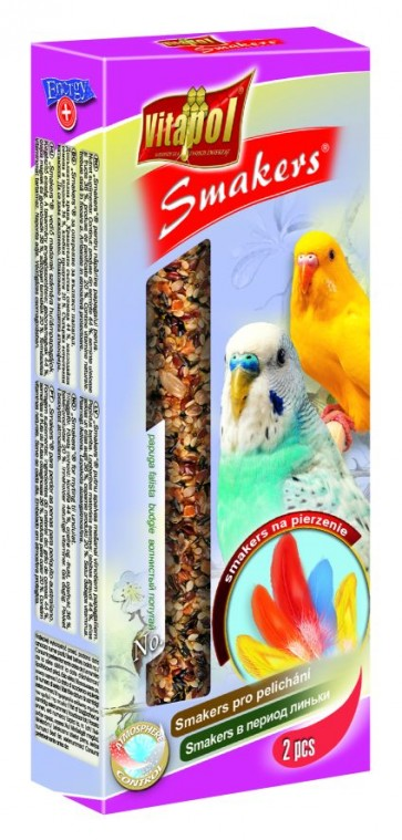 Vitapol, Smakers, Kolba dla papużki falistej, na pierzenie, 2 sztuki