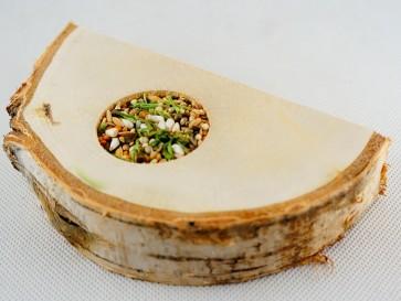 Ham-Stake, Platforma brzozowa z nasionami, półokrągła, 20cm