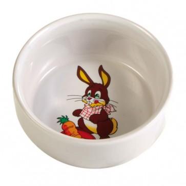 Trixie, Miska ceramiczna dla gryzoni z motywem, 250 ml/ø 11 cm