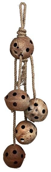Trixie, Kokosy na sznurze jutowym, 72cm