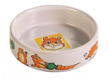 Trixie, Miska ceramiczna dla gryzoni z motywem, 90 ml/ø 8 cm
