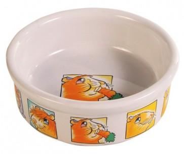 Trixie, Miska ceramiczna dla gryzoni z motywem, 240 ml/ø 11 cm