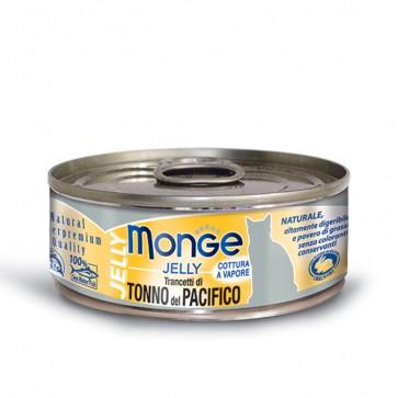 Monge Jelly, Tuńczyk żółtopłetwy, kawałki mięsa w galarecie, 80g