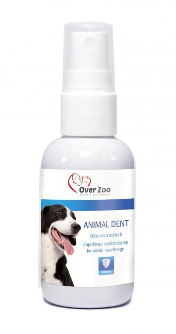 Over-Zoo, Animal Dent, Odświeża oddech i zapobiega osadzaniu kamienia nazębnego, 50ml