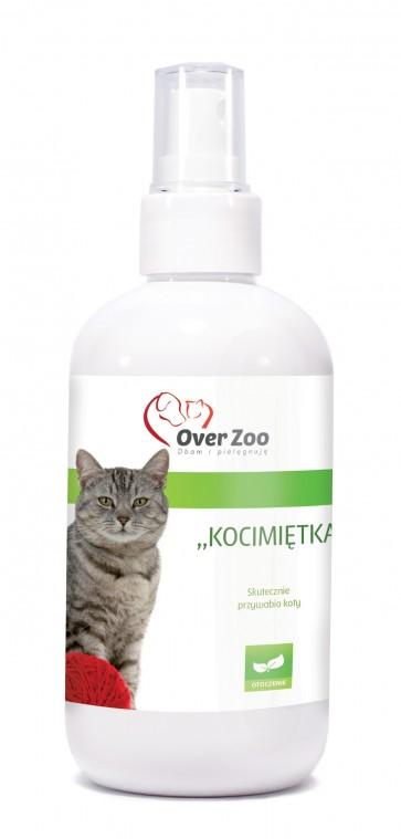 Over-Zoo, Kocimiętka, skutecznie przywabia i zachęca do zabawy, dla kotów, 250ml