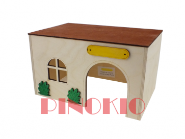Pinokio, Domek drewniany (26,5cm)