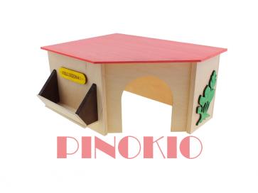 Pinokio, Domek drewniany (28,5cm)