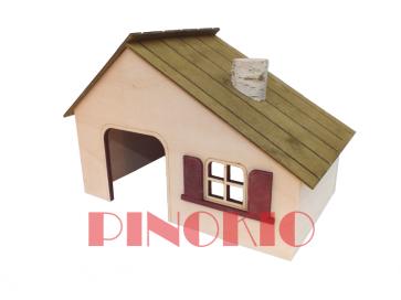 Pinokio, Domek drewniany (25cm)