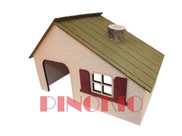 Pinokio, Domek drewniany (30cm)