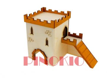 Pinokio, Domek drewniany (19cm)