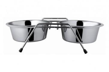 Happet, Miski metalowe na stojaku, 2 sztuki