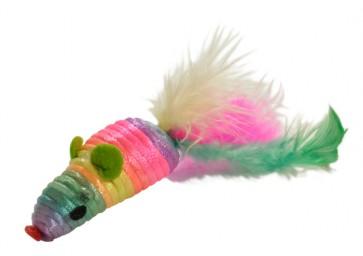 Happet, Myszka sizalowa z piórkami, 5cm