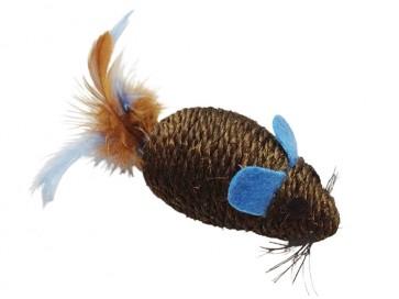 Happet, Myszka sizalowa z piórkami, 10cm